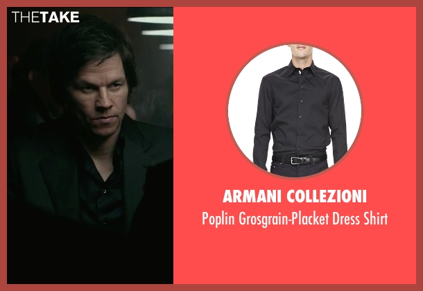 Armani Collezioni black shirt from The Gambler seen with Mark Wahlberg (Jim Bennett)