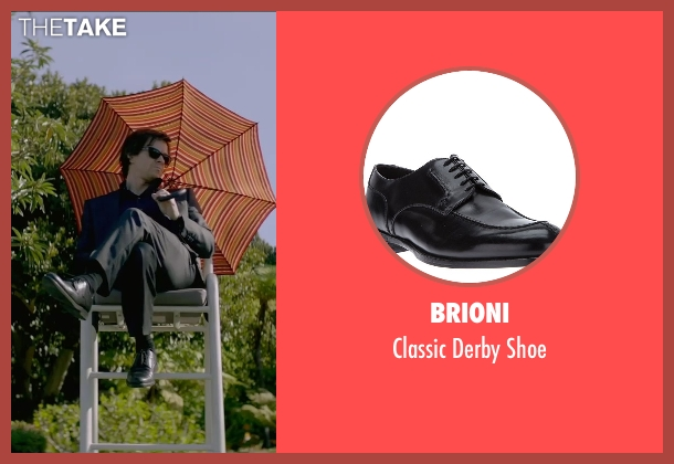Brioni black shoe from The Gambler seen with Mark Wahlberg (Jim Bennett)