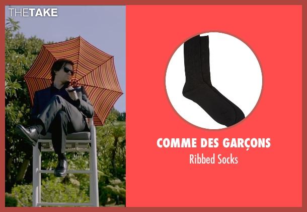 Comme Des Garçons black socks from The Gambler seen with Mark Wahlberg (Jim Bennett)