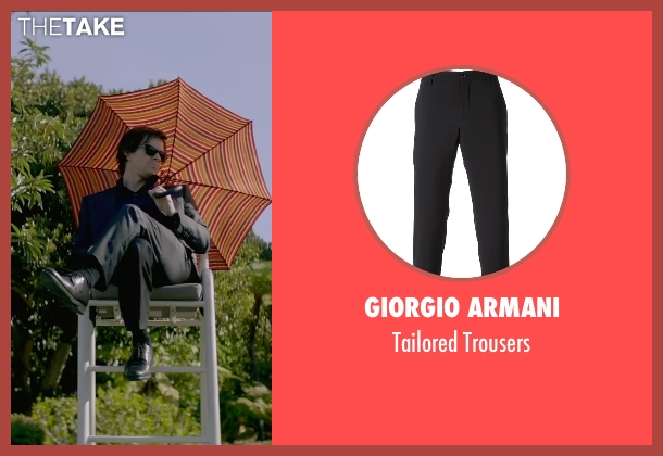 Giorgio Armani black trousers from The Gambler seen with Mark Wahlberg (Jim Bennett)