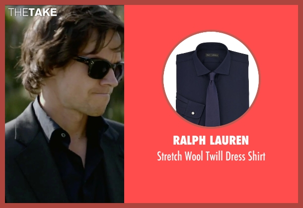 Ralph Lauren blue shirt from The Gambler seen with Mark Wahlberg (Jim Bennett)
