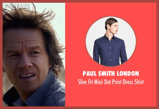 Paul Smith London blue shirt from The Gambler seen with Mark Wahlberg (Jim Bennett)