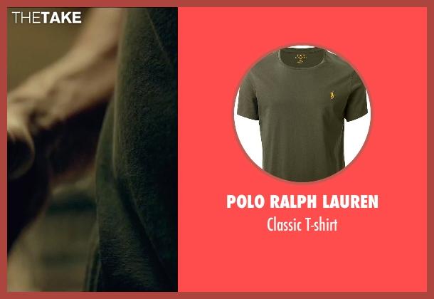 Polo Ralph Lauren green t-shirt from The Gambler seen with Mark Wahlberg (Jim Bennett)