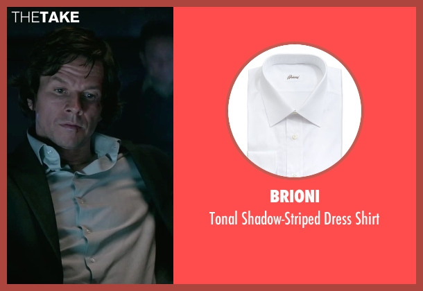Brioni white shirt from The Gambler seen with Mark Wahlberg (Jim Bennett)