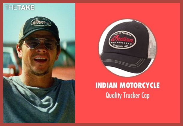 INDIAN MOTORCYCLE black cap from Transformers: Age of Extinction seen with Mark Wahlberg (Cade Yeager)