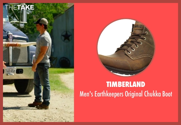 Timberland brown boot from Transformers: Age of Extinction seen with Mark Wahlberg (Cade Yeager)