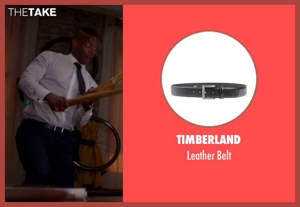Timberland black belt from Fifty Shades of Black seen with Marlon Wayans (Christian Black)