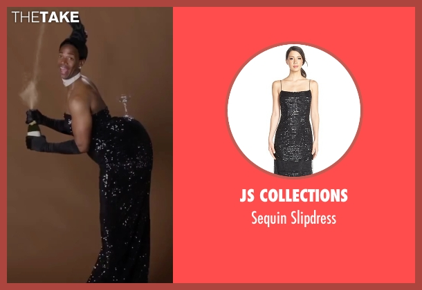 JS Collections black slipdress from Fifty Shades of Black seen with Marlon Wayans (Christian Black)