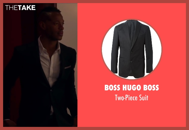 Boss Hugo Boss black suit from Fifty Shades of Black seen with Marlon Wayans (Christian Black)