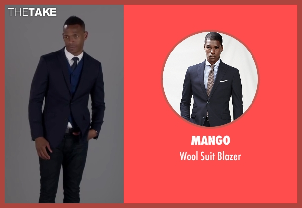 Mango blue blazer from Fifty Shades of Black seen with Marlon Wayans (Christian Black)