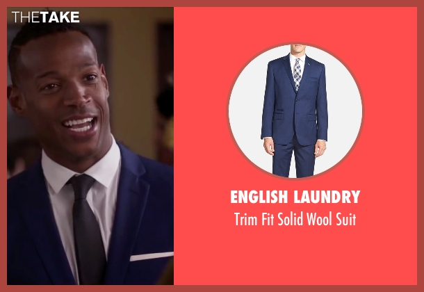 English Laundry blue suit from Fifty Shades of Black seen with Marlon Wayans (Christian Black)