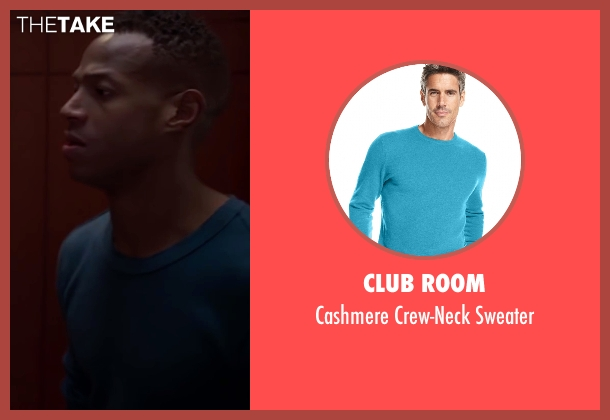 Club Room blue sweater from Fifty Shades of Black seen with Marlon Wayans (Christian Black)