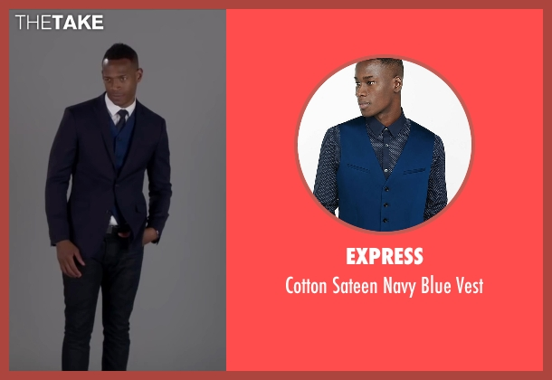 Express blue vest from Fifty Shades of Black seen with Marlon Wayans (Christian Black)