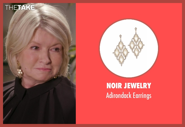 Noir Jewelry gold earrings from Chelsea seen with Martha Stewart
