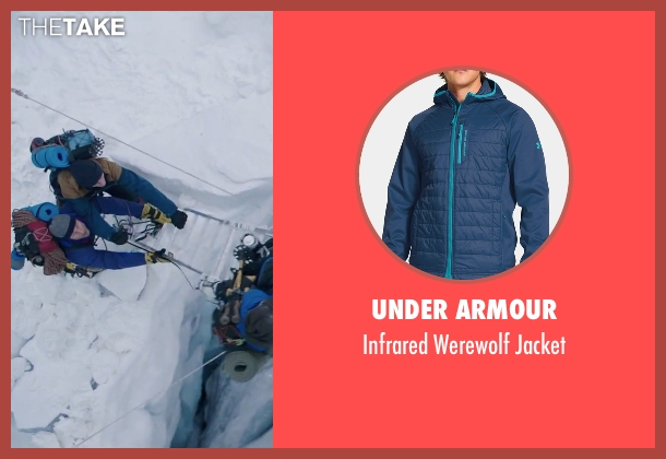 Under Armour blue jacket from Everest seen with Martin Henderson (Andy 'Harold' Harris)