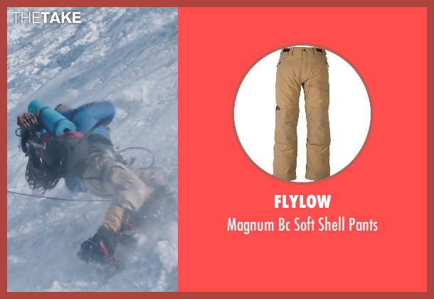 Flylow brown pants from Everest seen with Martin Henderson (Andy 'Harold' Harris)