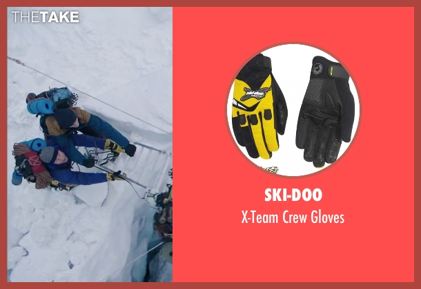 Ski-Doo yellow gloves from Everest seen with Martin Henderson (Andy 'Harold' Harris)