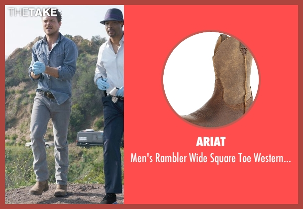 Vince beige boots from Lethal Weapon seen with Martin Riggs (Clayne Crawford)
