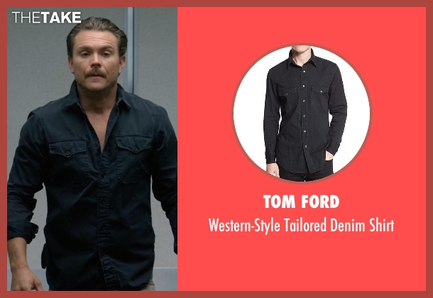 Tom Ford black shirt from Lethal Weapon seen with Martin Riggs (Clayne Crawford)