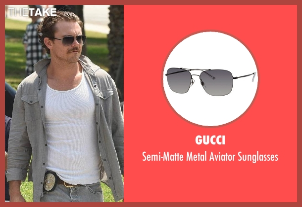 Gucci black sunglasses from Lethal Weapon seen with Martin Riggs (Clayne Crawford)