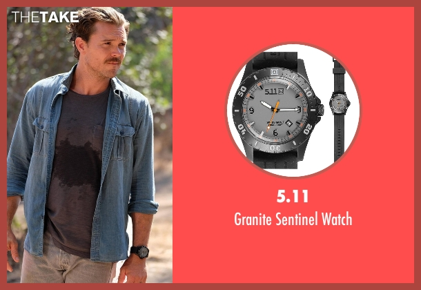 G-Shock black watch from Lethal Weapon seen with Martin Riggs (Clayne Crawford)
