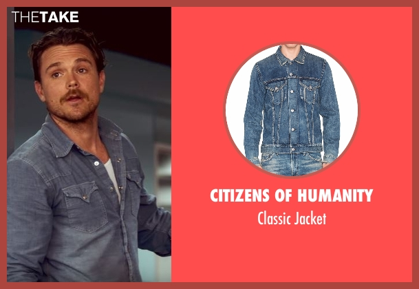 Citizens Of Humanity blue jacket from Lethal Weapon seen with Martin Riggs (Clayne Crawford)