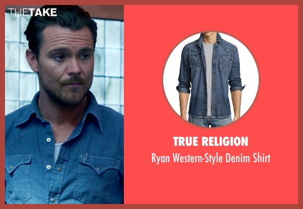 True Religion blue shirt from Lethal Weapon seen with Martin Riggs (Clayne Crawford)