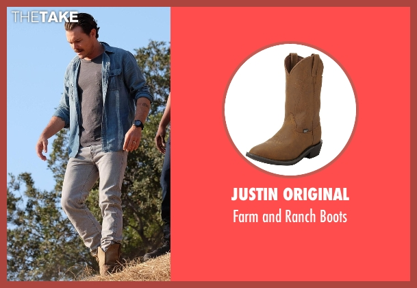 Justin Original brown boots from Lethal Weapon seen with Martin Riggs (Clayne Crawford)