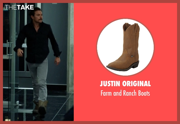 Ariat brown boot from Lethal Weapon seen with Martin Riggs (Clayne Crawford)