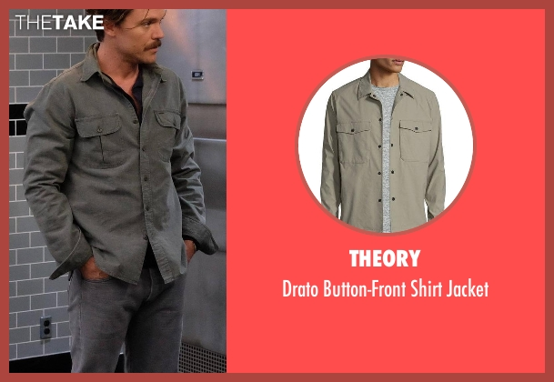 Theory gray jacket from Lethal Weapon seen with Martin Riggs (Clayne Crawford)