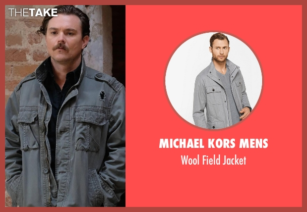 John Varvatos Star USA gray jacket from Lethal Weapon seen with Martin Riggs (Clayne Crawford)