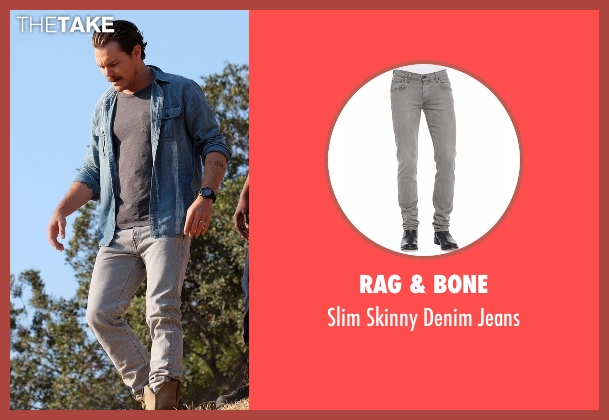 Rag & Bone  gray jeans from Lethal Weapon seen with Martin Riggs (Clayne Crawford)