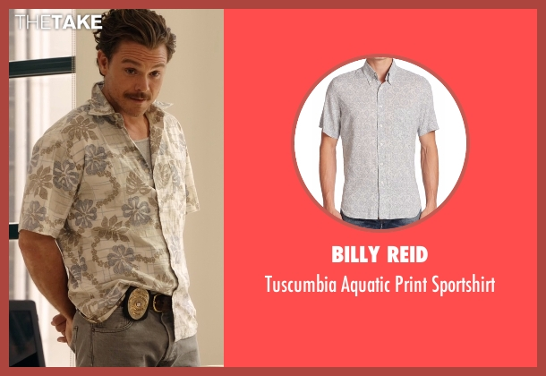Billy Reid gray sportshirt from Lethal Weapon seen with Martin Riggs (Clayne Crawford)