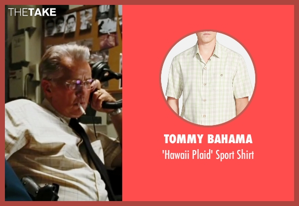 Tommy Bahama beige shirt from The Departed seen with Martin Sheen (Queenan)