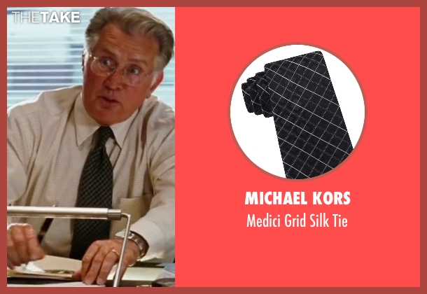 Michael Kors black tie from The Departed seen with Martin Sheen (Queenan)
