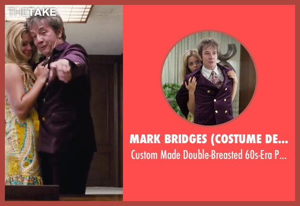 Mark Bridges (Costume Designer) purple suit from Inherent Vice seen with Martin Short (Dr. Rudy Blatnoyd, D.D.S.)