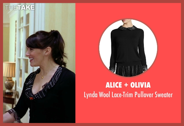 Alice + Olivia	 black sweater from Love Actually seen with Martine McCutcheon (Natalie)