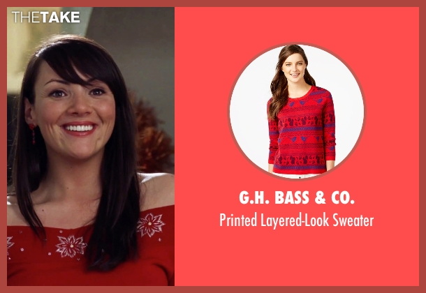 G.H. Bass & Co. red sweater from Love Actually seen with Martine McCutcheon (Natalie)