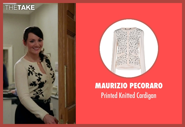 Maurizio Pecoraro white cardigan from Love Actually seen with Martine McCutcheon (Natalie)