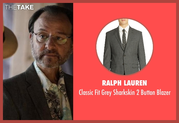 Ralph Lauren gray blazer from The Blacklist seen with Marvin Gerard (Fisher Stevens)
