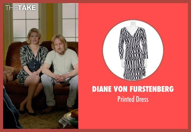 Diane Von Furstenberg black dress from Masterminds seen with Mary Elizabeth Ellis (Michelle)