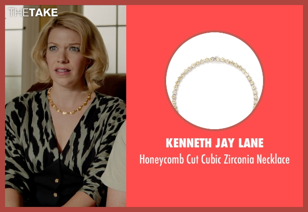 Kenneth Jay Lane yellow necklace from Masterminds seen with Mary Elizabeth Ellis (Michelle)