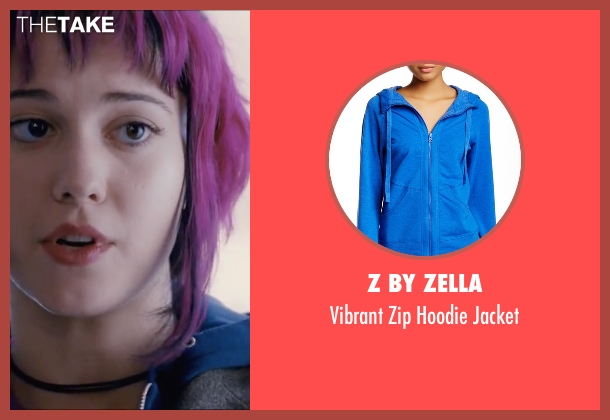 Z by Zella blue jacket from Scott Pilgrim Vs. The World seen with Mary Elizabeth Winstead (Ramona Flowers)
