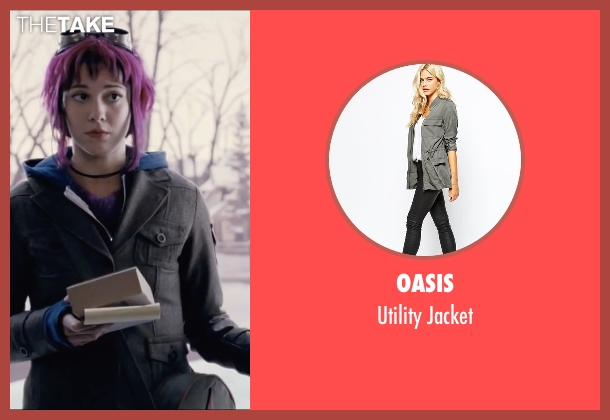 Oasis gray jacket from Scott Pilgrim Vs. The World seen with Mary Elizabeth Winstead (Ramona Flowers)