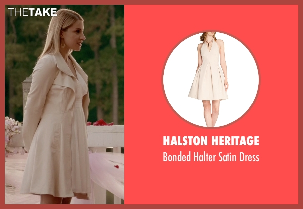 Halston Heritage beige dress from The Vampire Diaries seen with Mary Louise (Teressa Liane)