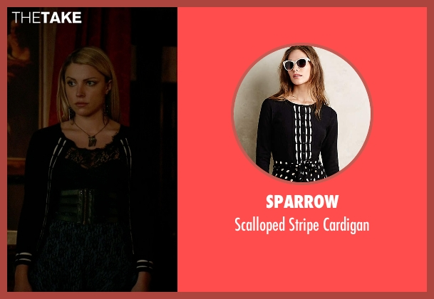 Sparrow black cardigan from The Vampire Diaries seen with Mary Louise (Teressa Liane)