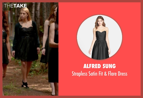 Alfred Sung black dress from The Vampire Diaries seen with Mary Louise (Teressa Liane)