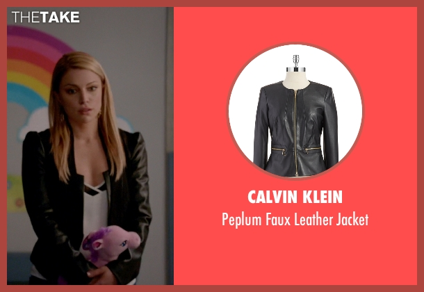 Calvin Klein black jacket from The Vampire Diaries seen with Mary Louise (Teressa Liane)