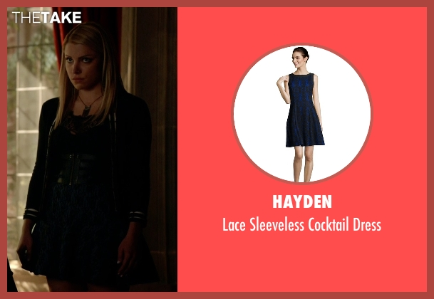 Hayden blue dress from The Vampire Diaries seen with Mary Louise (Teressa Liane)
