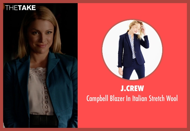 J.Crew blue wool from The Vampire Diaries seen with Mary Louise (Teressa Liane)